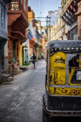 Colorful street in india
