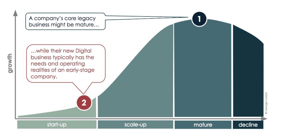 Company classic maturity s-curve chart