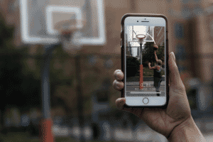 Thumbnail for Immersive sports analytics overlays the virtual world onto real life.