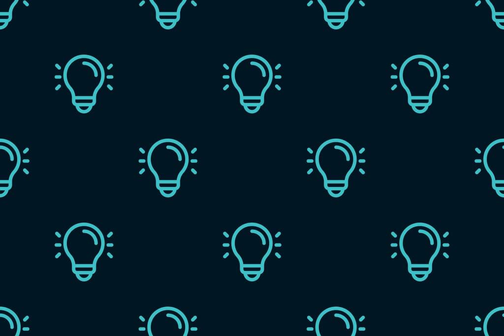 pattern of lightbulbs
