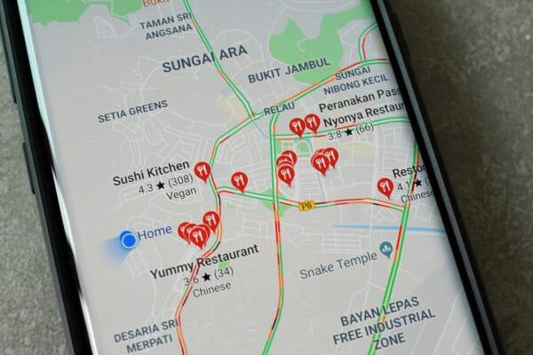 Google Map on phone