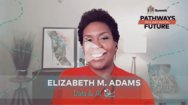 Elizabeth M Adams thumbnail with play triangle